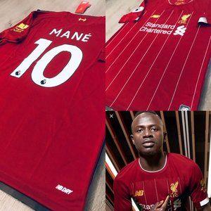 Sadio Mane #10 soccer jersey Liverpool Home